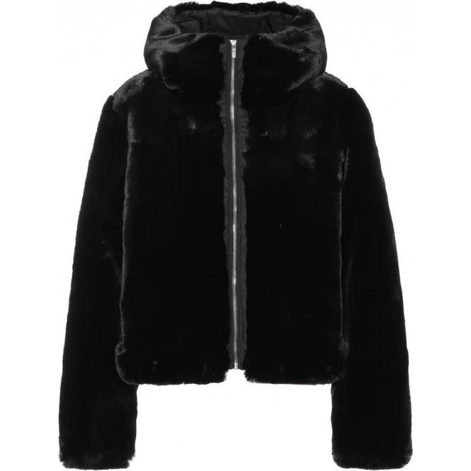 FUSALP Mongie Faux Fur Jacket in Black