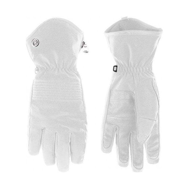 POIVRE BLANC Womens Stretch Glove in White
