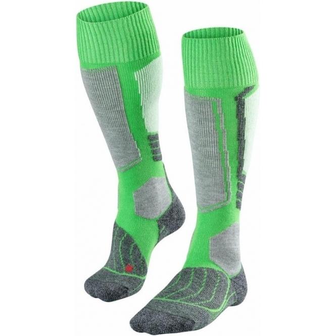 FALKE SK1 Ski Socks in Vivid Green