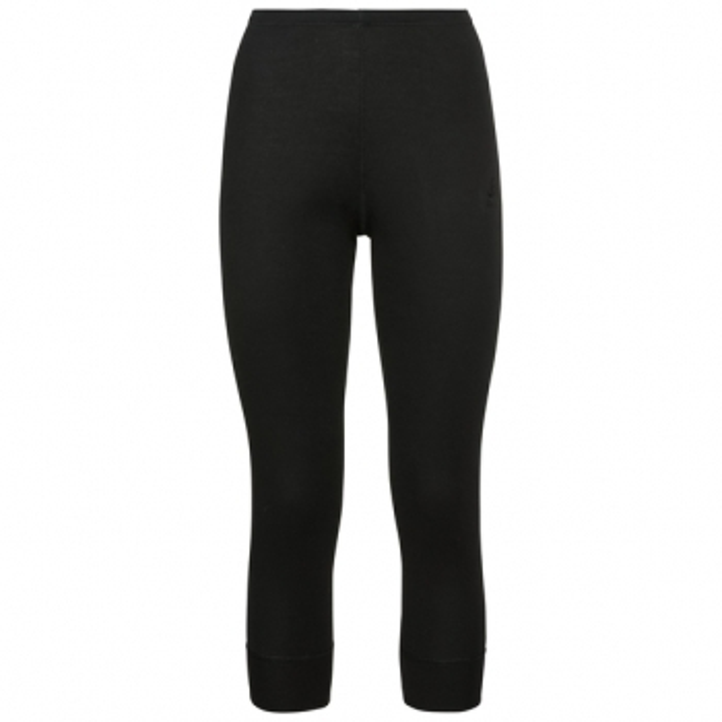 ODLO Active Warm 3/4 Pant Womens Baselayer In Black