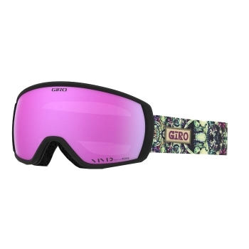 Giro Ski Helmets Facet Womens Ski Goggle in Kaleidscope with Vivid Pink