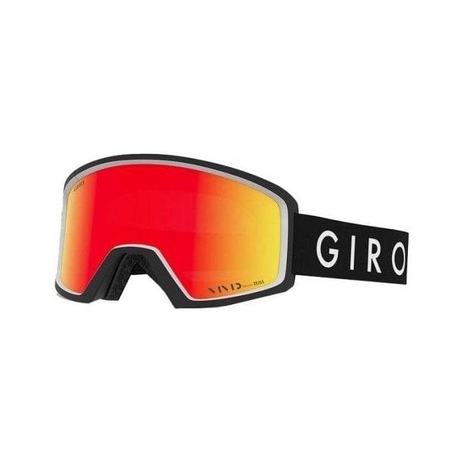 GIRO SKI HELMETS Blok Mens Ski Goggle in Black Core with Vivid Ember