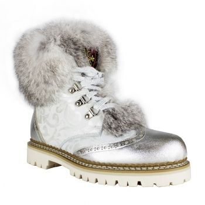 LA THUILE BOOTS Freddo P Womens Winter Boot In Silver Flower