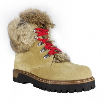 La Thuile Winter Boots La Thuile Susten Womens Suede Winter Boot in Beige
