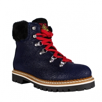 La Thuile Winter Boots Freddo W Womens Winter Boot in Textured Blue