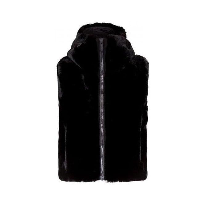 FUSALP Pegase Womens Faux Fur Gilet in Black