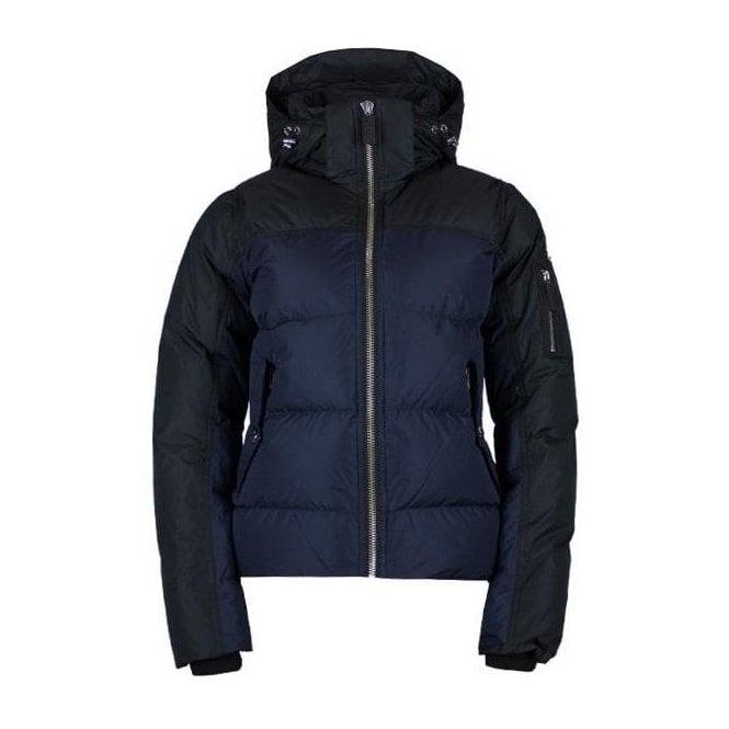 SOS Davitta Down Womens Jacket in Dark Blue