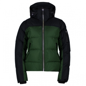 SOS Davitta Down Womens Jacket in Green Pine