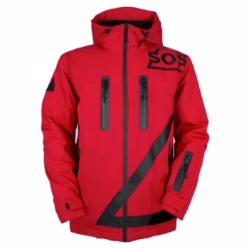 SOS Triangle Jacket Mens Jacket in Racing Red