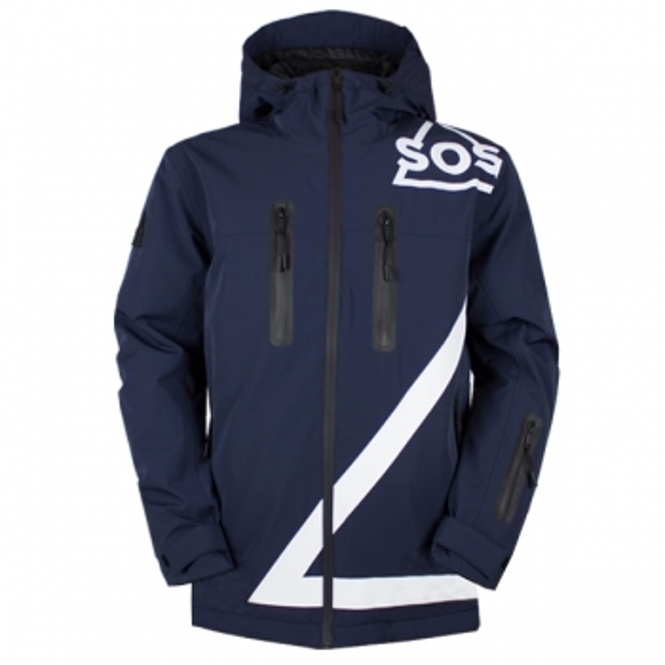 SOS Triangle Jacket Mens Jacket in Dark Blue