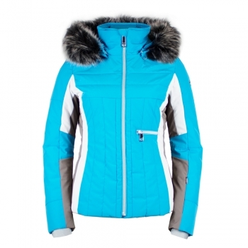 Poivre Blanc Betsy Womens Jacket in Aqua Blue Multi