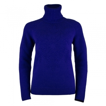 Bogner Gisa Womens Knit Midlayer in Bright Blue