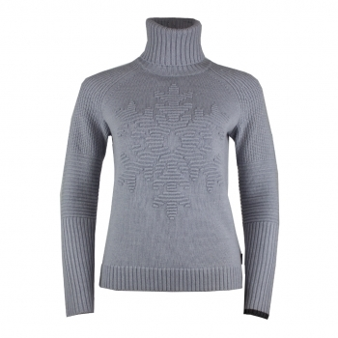 BOGNER Gisa Womens Knit Midlayer in Light Grey