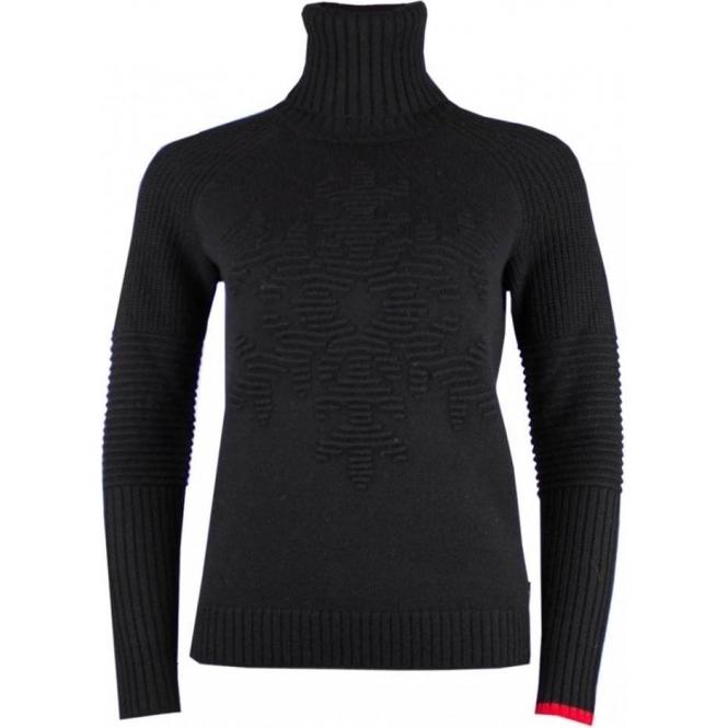 BOGNER Gisa Womens Knit Midlayer in Black