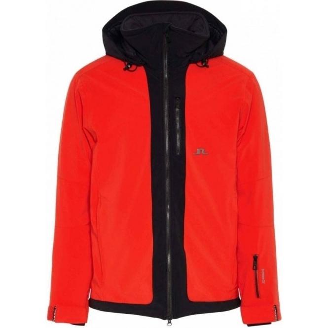 J LINDEBERG Moffit Jacket Mens Ski Jacket in Racing Red