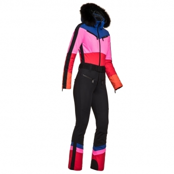 GOLDBERGH Pearl Ski Suit in Rainbow with Black Trim