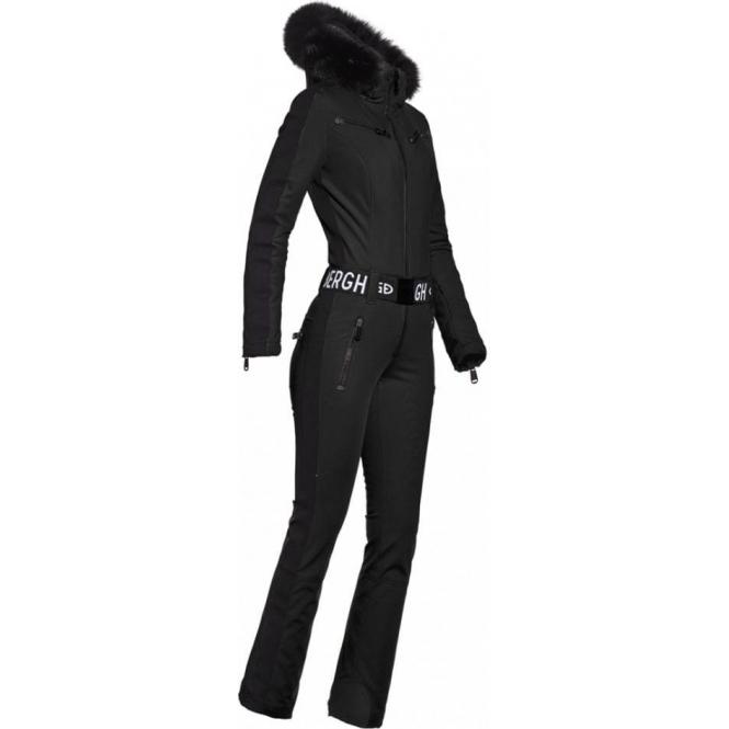 GOLDBERGH Empress Ski Suit Saga Fur Trim in Black