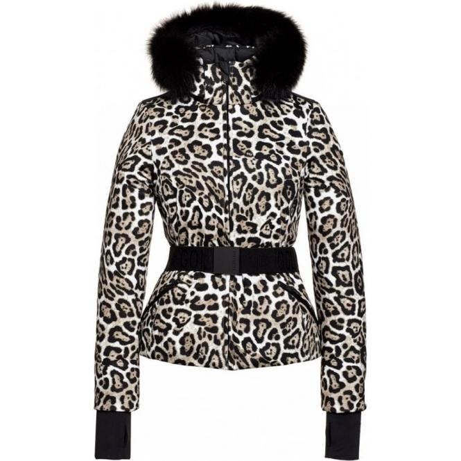 GOLDBERGH Wild Ski Jacket Saga Fur Trim in Leopard