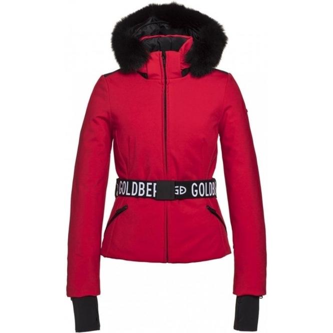 GOLDBERGH Hida Ski Jacket Saga Fur Trim Ruby Red