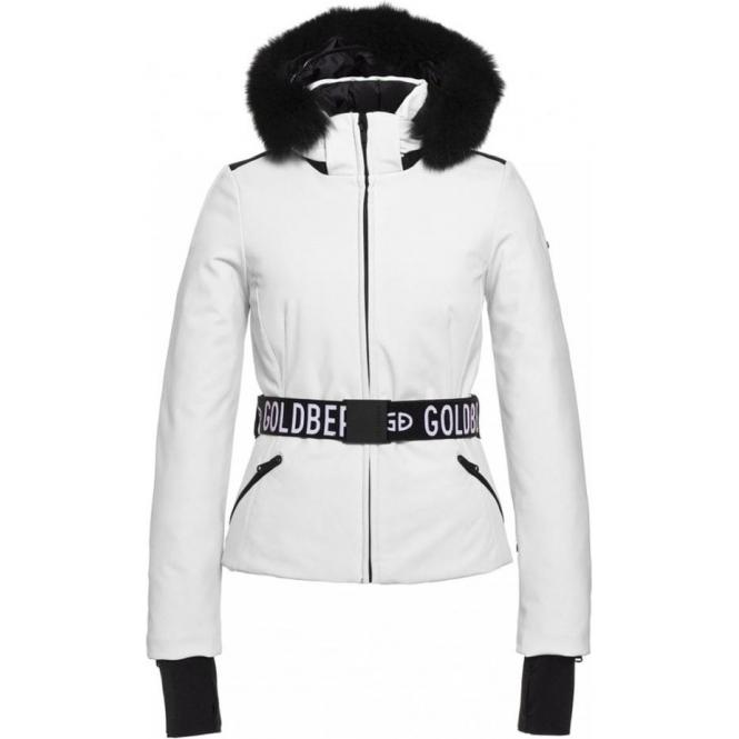 GOLDBERGH Hida Ski Jacket Saga Fur Trim White