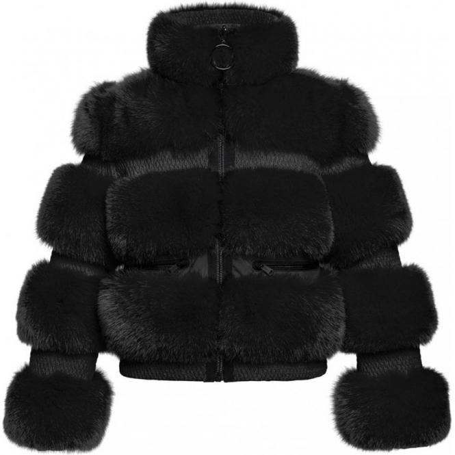 GOLDBERGH Paradiso Faux Fur Jacket Black