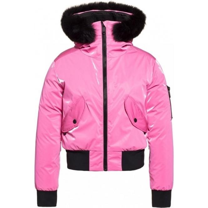 GOLDBERGH Bomba Ski Jacket Saga Fur Trim Pink