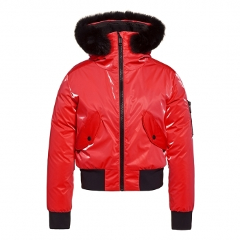 GOLDBERGH Bomba Ski Jacket Saga Fur Trim Ruby Red