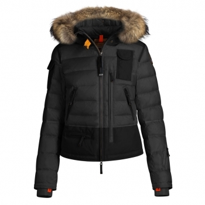 PARAJUMPERS Womens Skimaster Ski Jacket Black/Grey