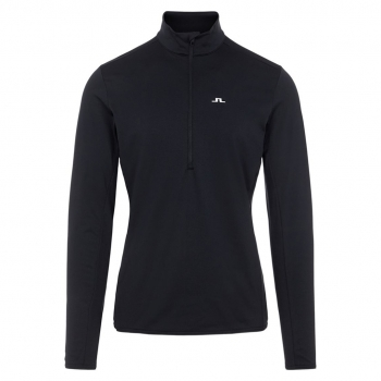 J LINDEBERG J.Lindeberg Luke Half Zip Midlayer in Black