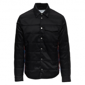AZTECH MOUNTAIN Aztech Loge Peak Mens Quilted Shirt in Space Black Multi