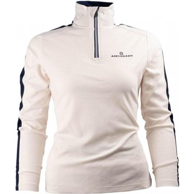 AMUNDSEN Womens 5Mila Half Zip Midlayer in White