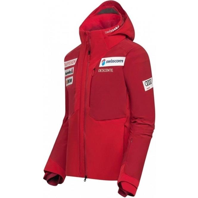 DESCENTE Mens Swiss Team Replica Ski Jacket in Red