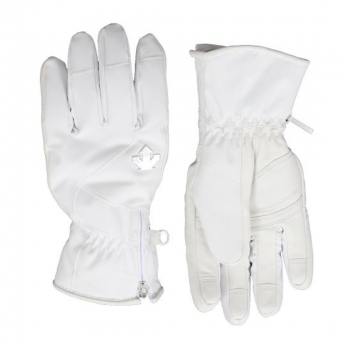 Descente Vanessa Ski Glove in White