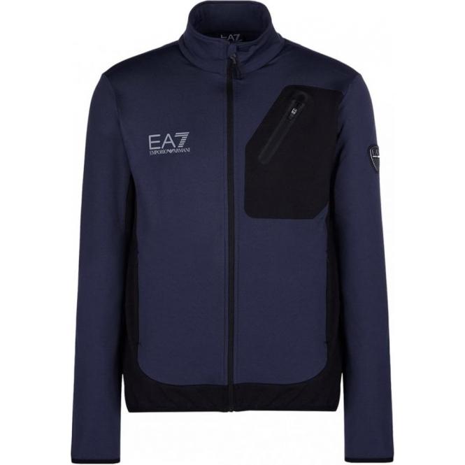 ARMANI EA7 Mens Full Zip Midlayer in Navy