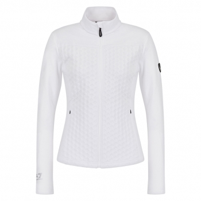 ARMANI EA7 Full Zip Midlayer in White