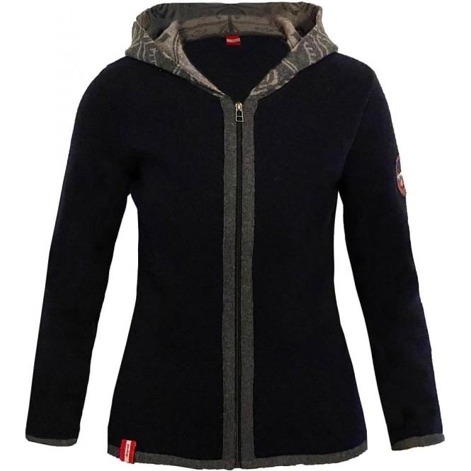 ALMGWAND Steinerwandalm Wool Jacket in Navy and Grey
