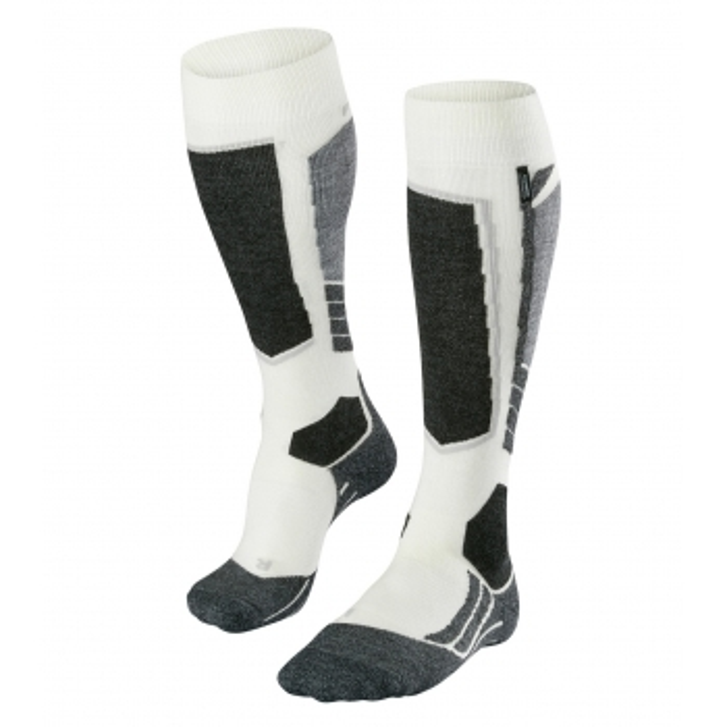 FALKE SK2 Cashmere Womens Ski Socks in Off White