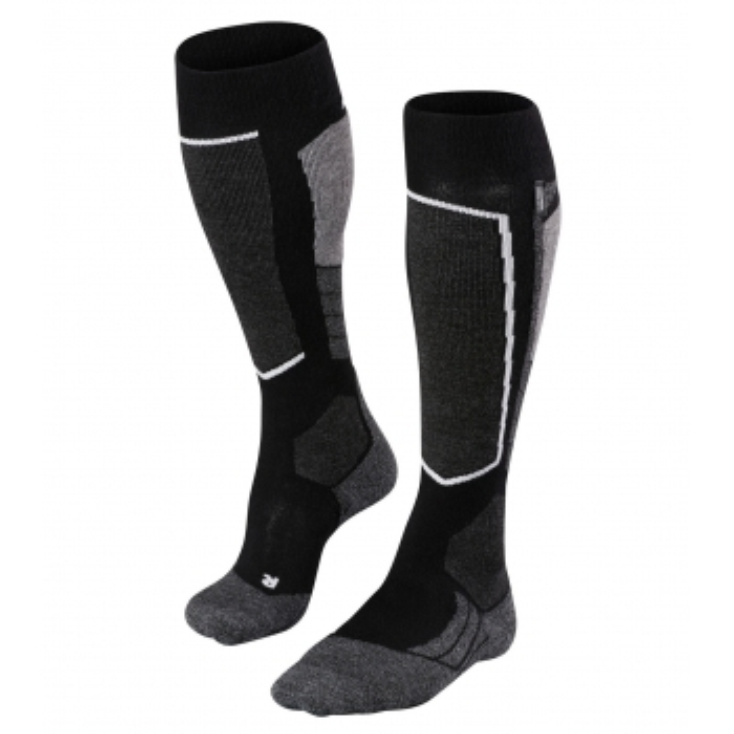 FALKE SK2 Cashmere Mens Ski Socks in Black