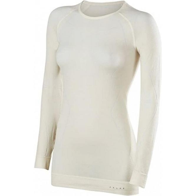 FALKE Womens Wool Tech LS Crew Shirt Regular fit in White