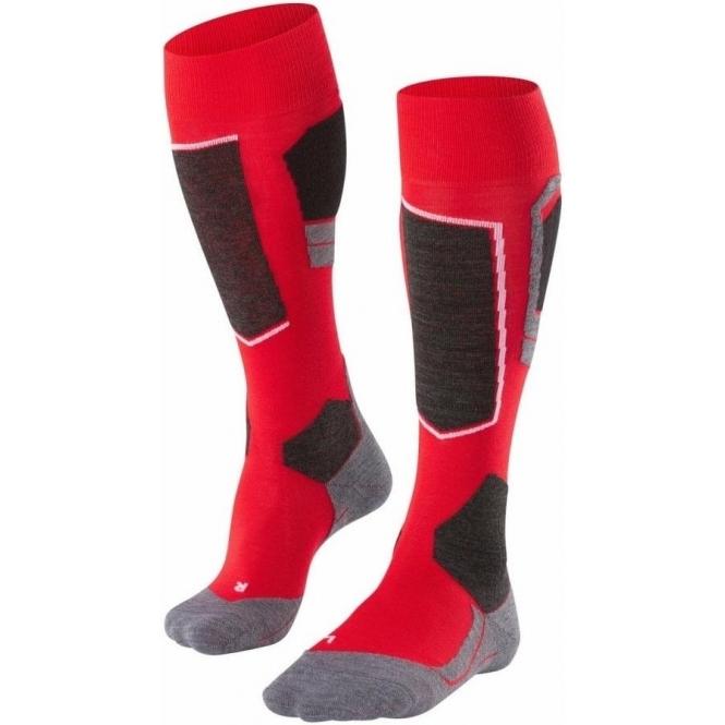 FALKE SK4 Mens Ski Socks in Lipstick Red