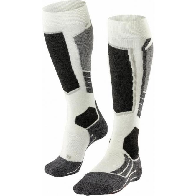 FALKE SK2 Womens Ski Socks In Off White
