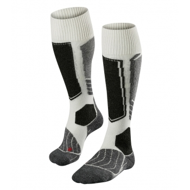 FALKE SK1 Off White Womens Ski Socks