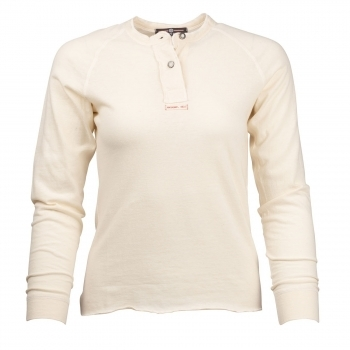Amundsen Summer Wool Henley G Dyed Womens Natural