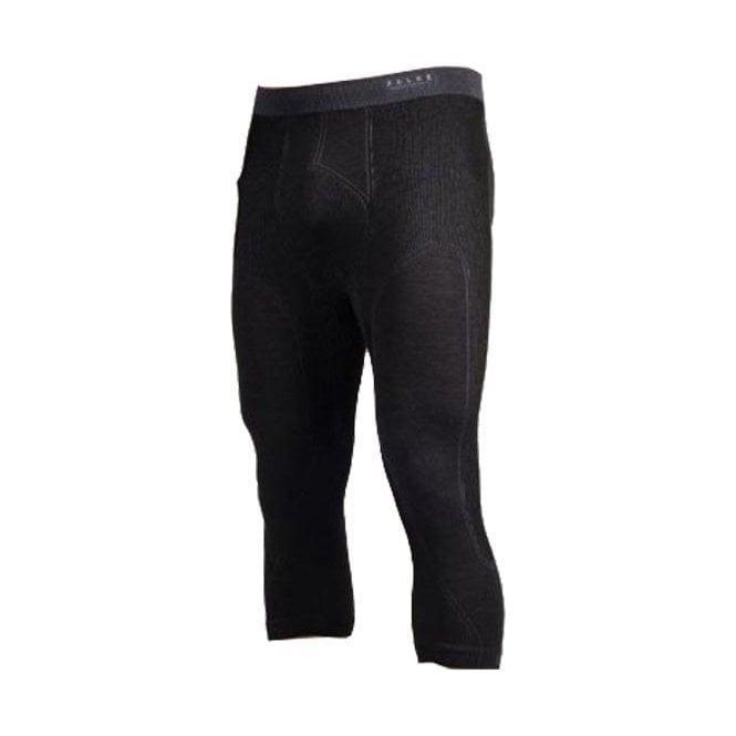 FALKE Wool Tec 3/4 Tight Black Mens Baselayer