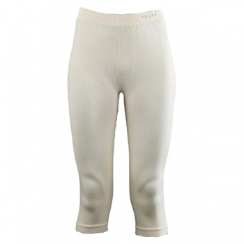 FALKE Wool Tec 3/4 Tight Womens Ski Thermal in Off White