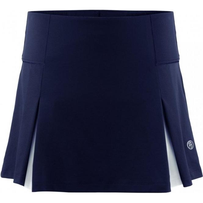 POIVRE BLANC Pique Skort in Oxford Blue/White