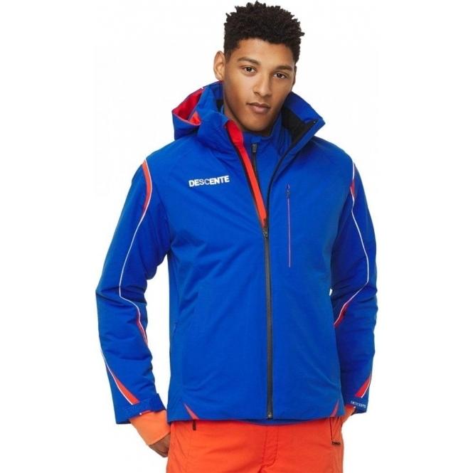 DESCENTE Mens Isak Ski Jacket in Blue/Orange