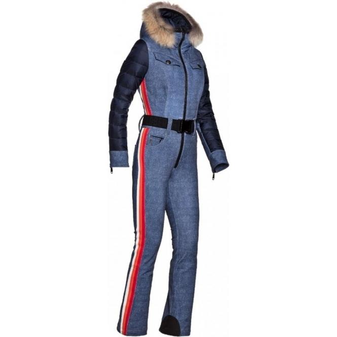 GOLDBERGH Longmont Ski Suit in Denim