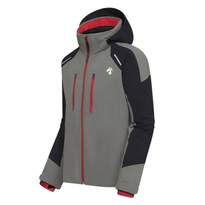 DESCENTE Mens Slade Ski Jacket in Grey/Black/Red