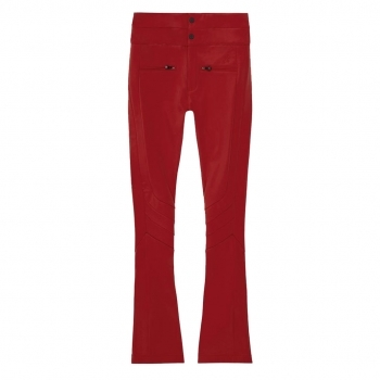 PERFECT MOMENT Aurora High Waist Flare Ski Pants in Red